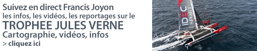 Suivez Francis Joyon et l'équipage d'IDEC Sport sur sa deuxième tentative pour battre le record du Trophée Jules Verne
