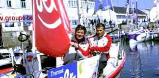 Kito de Pavant et Pietro D´Ali à bord de Groupe Bel