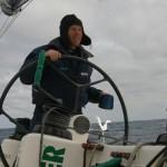 Mike Golding à la barre - Ecover