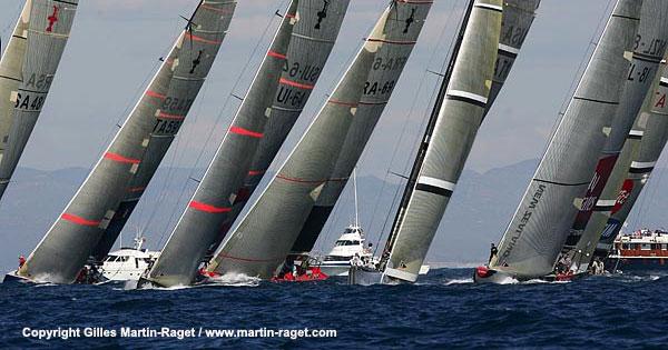 Régate en flotte à Valence