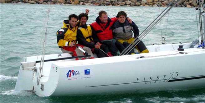Philippe Legros et son équipage