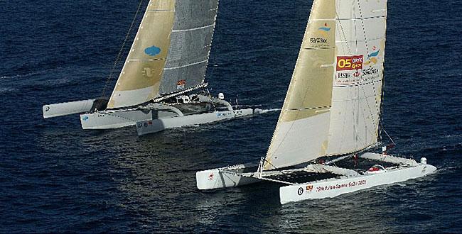 Olivier de Kersauson- Geronimo et Brian Thomson - Doha 2006