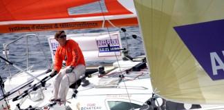 Gérald Véniard (Scotum) en tête de la Solitaire Afflelou Le Figaro