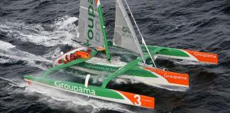 Groupama 3 - départ Atlantique Nord