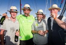 Les 4 skippers à Punta del Este
