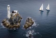 Temps calme au rocher du Fastnet