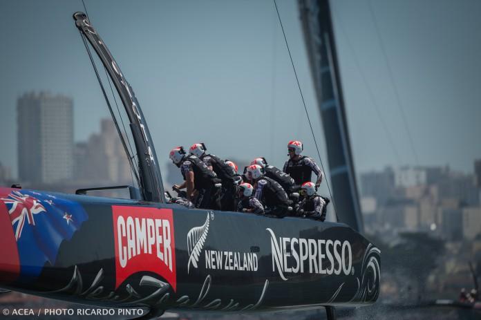 A bord de Team New Zealand