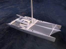 la transformation du maxi-catamaran Orange II