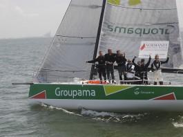 Arrivée Groupama au Havre Normandy sailing Week