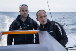 Kévin Escoffier avec Nicolas Lunven sur la Jacques Vabre