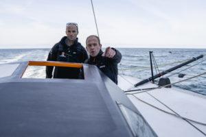 Kévin Escoffier et Nicolas Lunven au départ de la Rolex Fastnet Race
