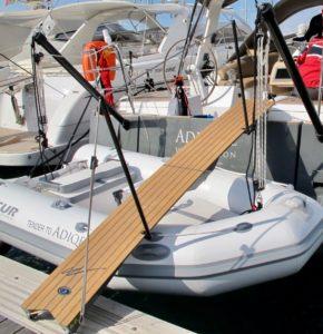 Une passerelle adaptée à votre bateau