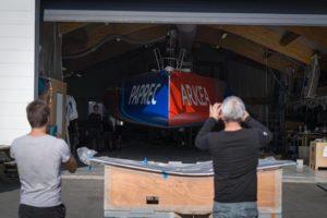 IMOCA Arkea Paprec, sortie de chantier