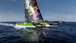 Les six équipiers de Sodebo Ultim 3 pour la Rolex Fastnet Race