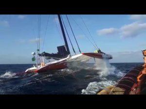 Rolex Middle Sea Race. Voie d'eau sur l'Orma60 Ad Maiora