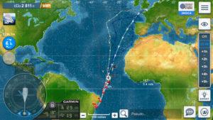 Virtual Regatta. Les bateaux virtuels sont aussi de sortie et en approche du Pot-au-noir !