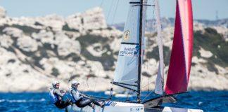 Quentin Delapierre & Manon Audinet en Nacra 17 sélectionnés aux JO202 Copyright : Sailing Energy