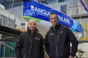 Transat AG2R. Armel Le Cléac'h avec Erwan Le Roux