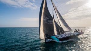 The Ocean Race 2021. Yoann Richomme skipper du bateau Racing for the Planet