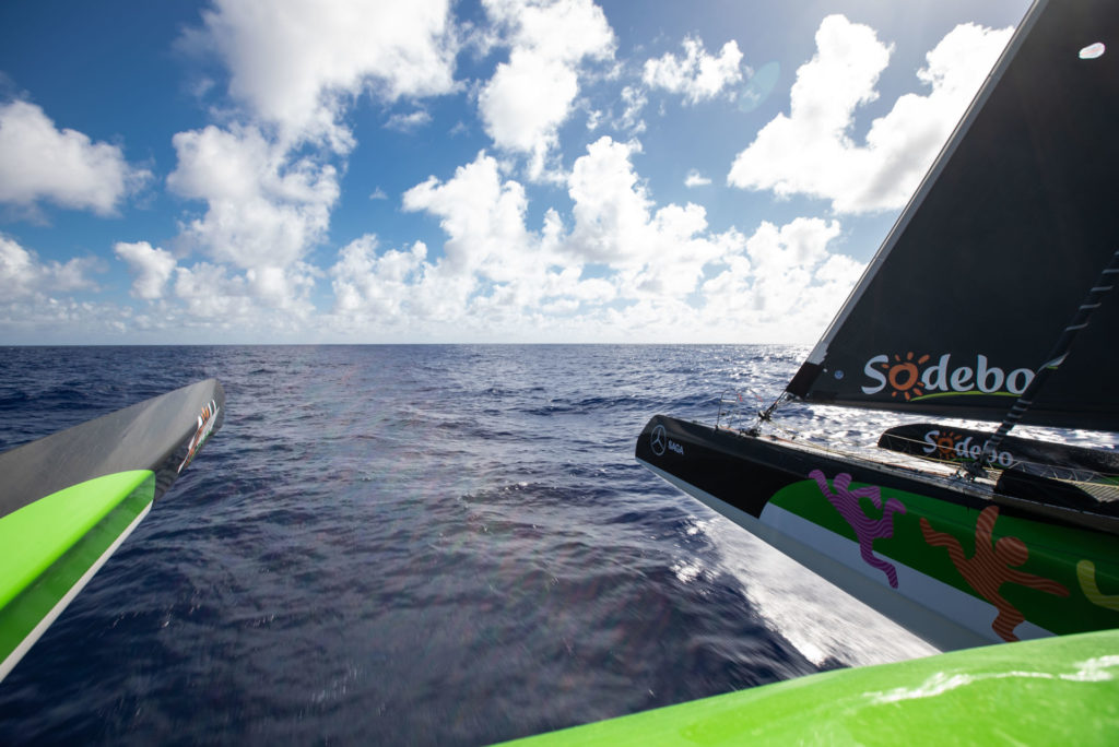 Trophée Jules Verne a bord de Sodebo