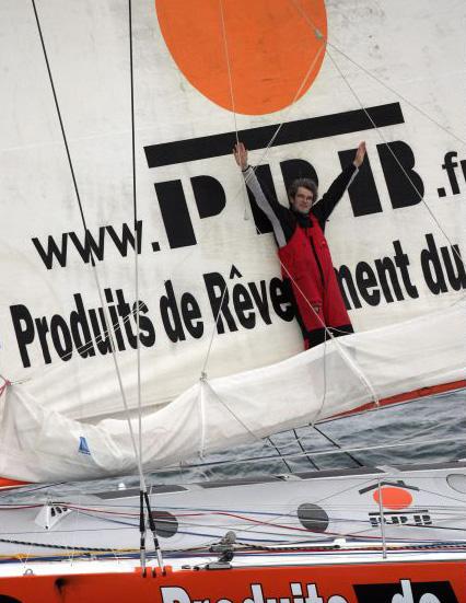 Vincent Riou à bord de PRB