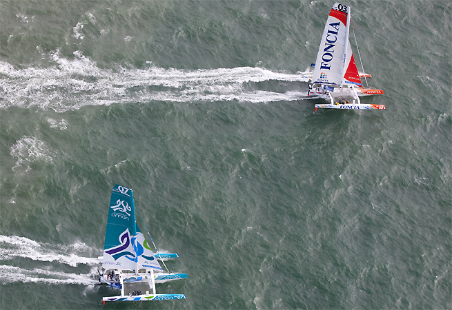 Foncia contre Oman Sail Artemis Challenge