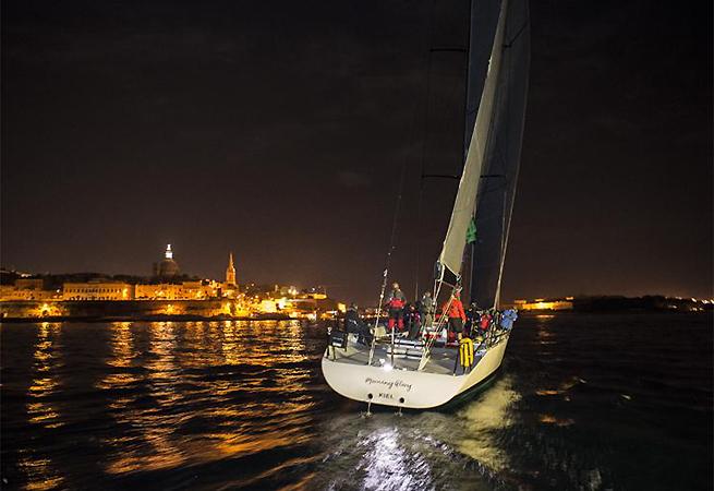 Arrivée Morning Glory Middle Sea Race