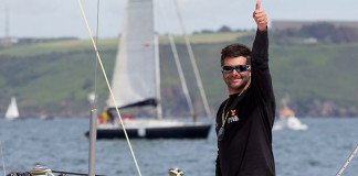 Alexi Loison Groupe Fiva gagne étape Plymouth Solitaire 2014