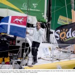 Celebration at Finish arrival of Louis Burton (FRA), skipper Bureau Vallee, 7th of the sailing circumnavigation solo race Vendee Globe, in Les Sables d'Olonne, France, on February 2nd, 2017 - Photo Olivier Blanchet / DPPI / Vendee Globe  Arrivée de Louis Burton (FRA), skipper Bureau Vallee, 7ème du Vendee Globe, aux Sables d'Olonne, France, le 2 Février 2017 - Photo Olivier Blanchet / DPPI / Vendee Globe
