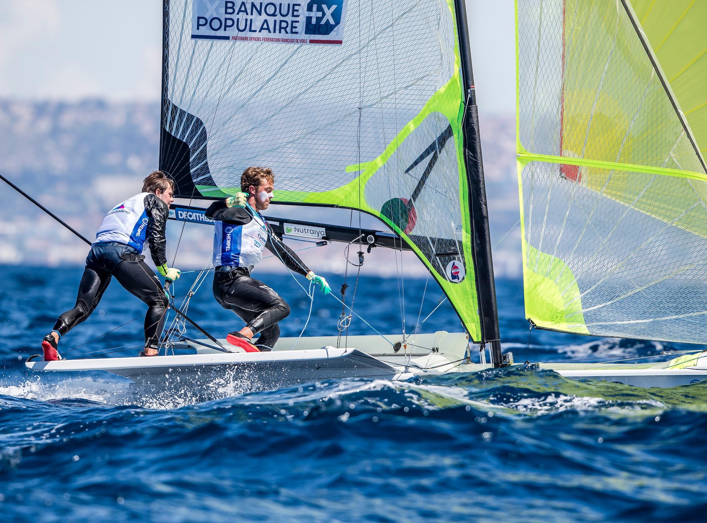 Lucas Rual & Emile Amoros en 49er sélectionnés aux JO202 Copyright : Sailing Energy